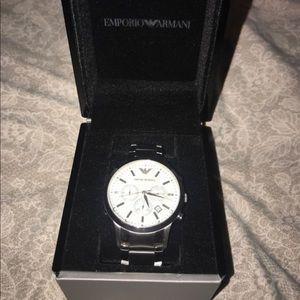 Silver Emporio Armani Watch